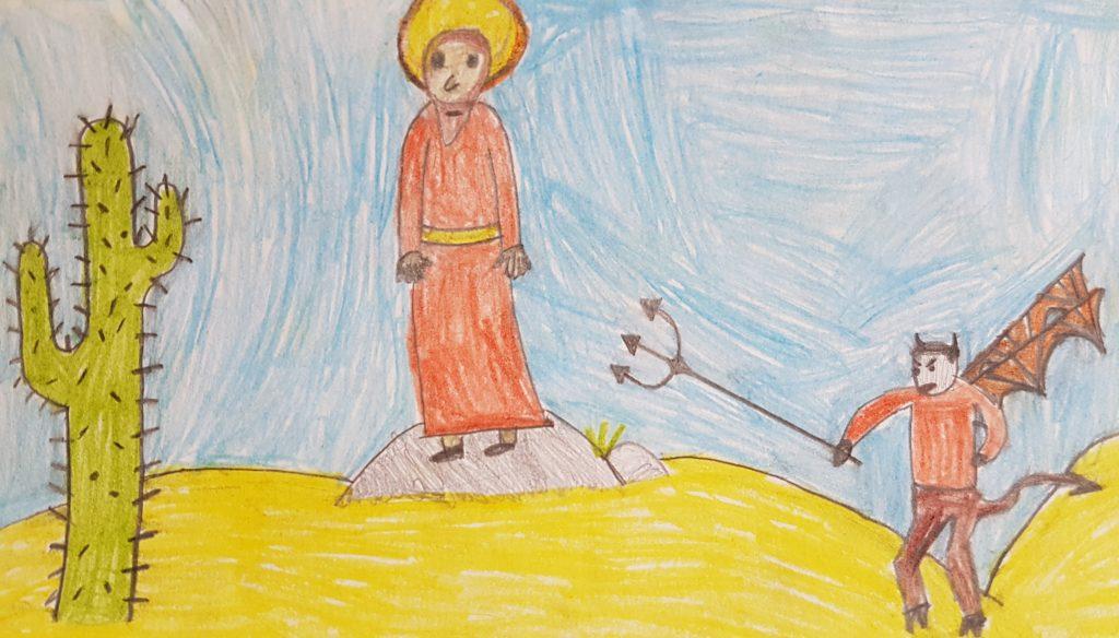 Kuszenie Jezusa oczami dziecka, Karmić się słowem