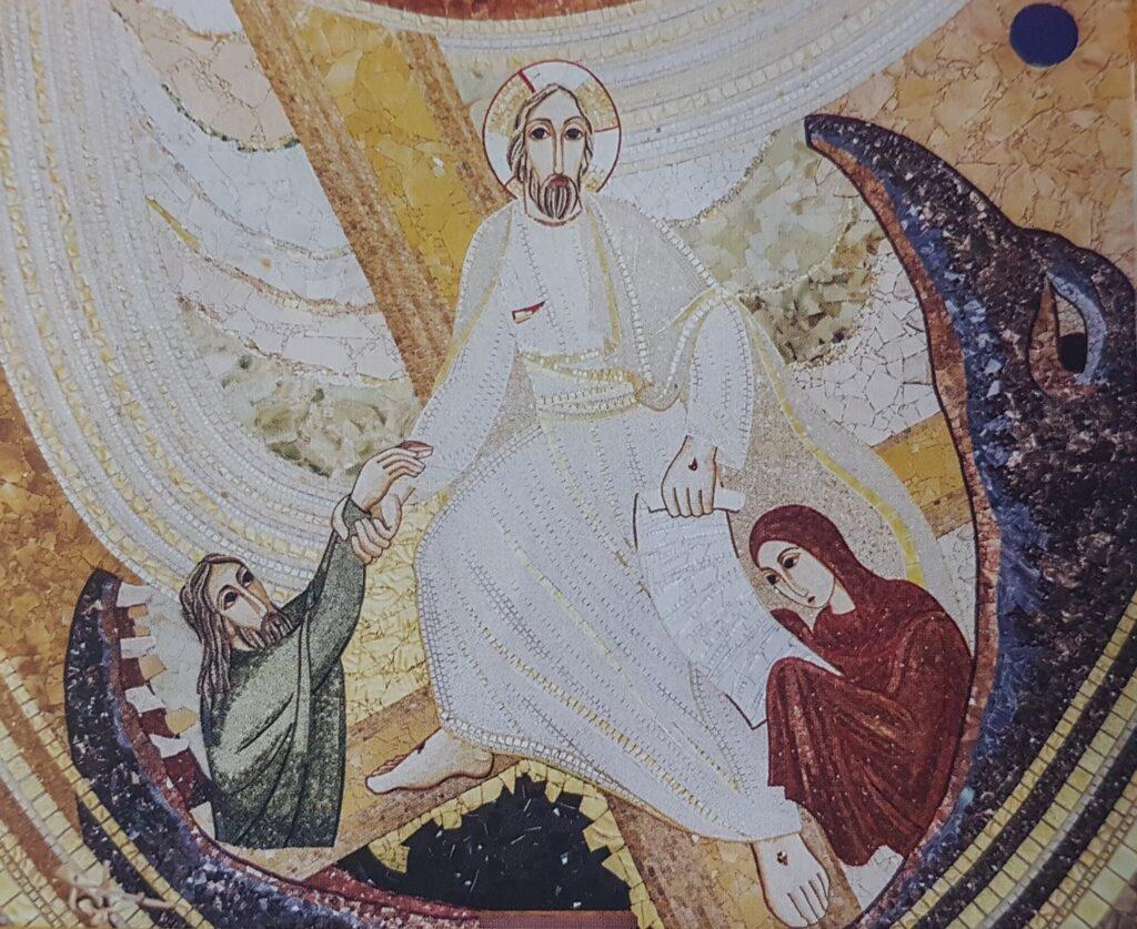 zmartwychwstanie, mozaika, sanktuarium Jana Pawła II, zostań z nami
